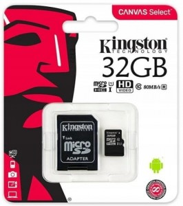 MicroSD + adapter 32 GB Canvas Select 80/10MB/s