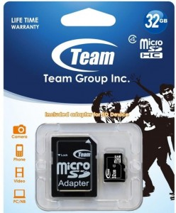 MicroSD + adapter 32 GB Class 10 Team Group