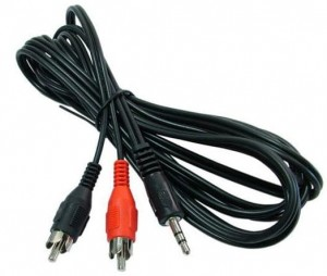 Kabel mini-jack 3,5mm - 2x Chinch minijack RCA 5m