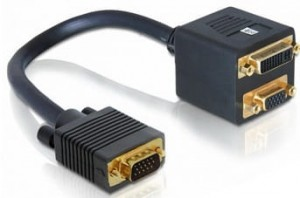 Adapter splitter VGA na VGA DVI-I