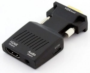 Adapter VGA D-Sub z audio do HDMI 1080p